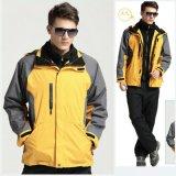 秋冬两用户外服装两件套冲锋衣男三合一防水加厚登山滑雪服工作服