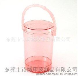 手提圆形 透明塑料桶D120*H188MM 东莞厂家直销