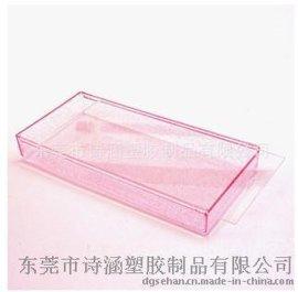 厂家直销 PS高透明抽盖盒 长方形水晶盒6512# 208*96*27MM