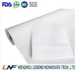 化学浸渍100%涤纶材质63G厨师帽无纺布