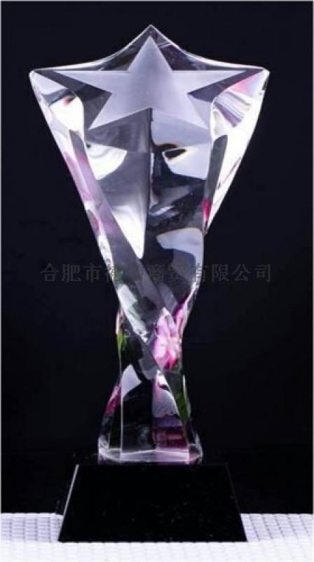 供应合肥精美水晶奖杯水晶笔筒水晶鼎制作