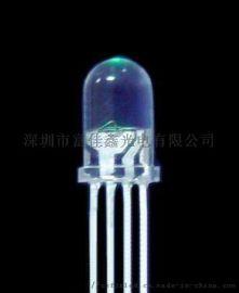 5MM四脚三色LED发光二极管