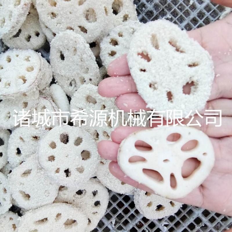新款鱼饼成型机 鱼饼上屑机 鱼饼裹面包糠机专用设备