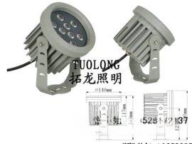 小区亮化投光灯 12W插地灯 LED楼宇建筑照明
