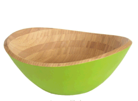 NJSB1-014 竹制元宝碗 酒店沙拉碗 创意竹制用品