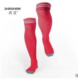 贞正厂家直销新款篮球足球袜全棉吸汗透气脚跟加固防护小腿高筒袜
