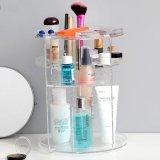 化妝品收納盒亞克力桌面置物架透明旋轉化妝盒梳妝檯浴室整理塑料