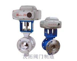 上海电动V型调节球阀,法兰式电动铸钢球阀