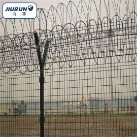 双边护栏网 刀片围网 Y型柱防护栏