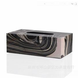 欧式长方形纸巾盒抽纸盒厕所木质纸巾盒餐巾纸盒酒店客厅样板摆件