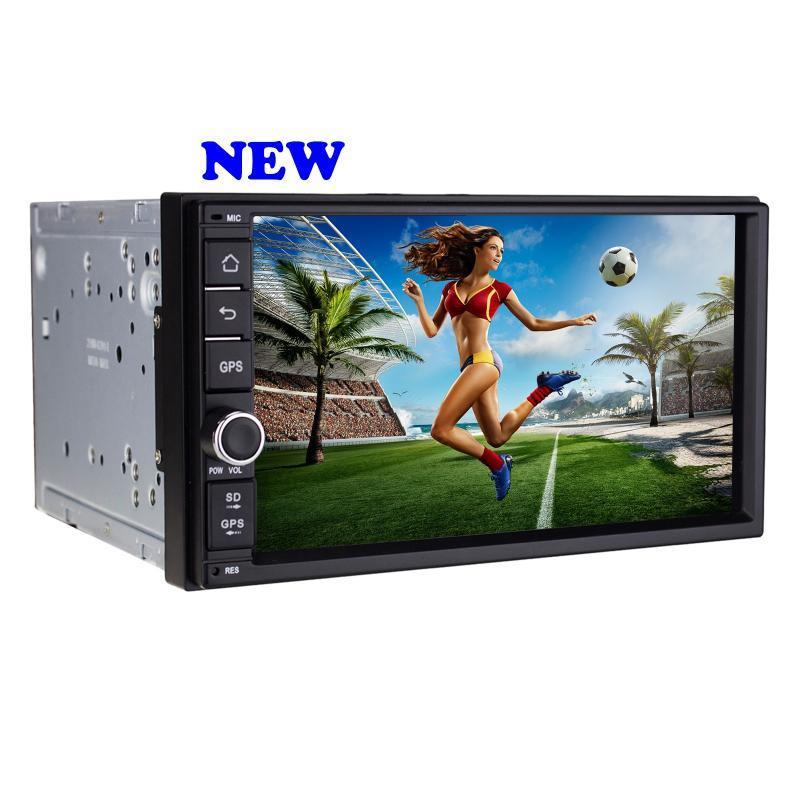 厂家直销捷友J-2818N安卓6.0高清1024*600无碟7寸电容触摸屏安卓6.0.1通用车载DVD收音机