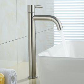 酒店衛浴綺美斯304不鏽鋼浴室洗手間洗手盆面盆臺上盆加高水龍頭