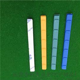 长条弧形9*3mm硅胶垫 透明防滑防水胶垫
