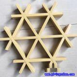 汉中铝格栅 三角木纹铝格栅 三角铝格栅天花价格