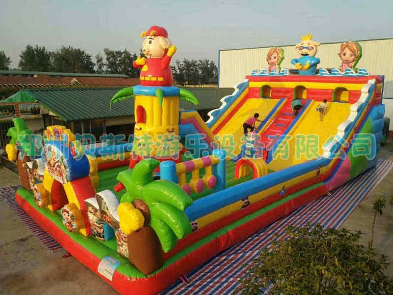 云南文山儿童充气城堡厂家贝斯特定做充气滑梯