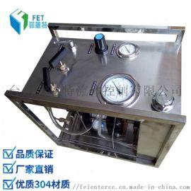 小型阀门液压测试台 液体增压泵32Mpa