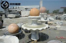 曲阳大型风水球石雕大理石转运风水球石雕摆件