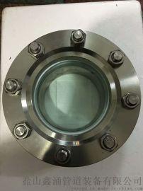 化工设备用304水流指示器按图生产DN50法兰视镜