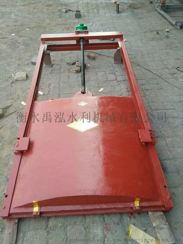 水利渠道鑄鐵不鏽鋼啓閉平板LMD單雙向方形手動氣動電動螺旋閘門