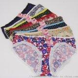 女式内裤 时尚外贸透气性感蕾丝花边女士三角裤