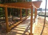 混凝土水泥仿木葡萄架长廊架的安装步骤施工方法