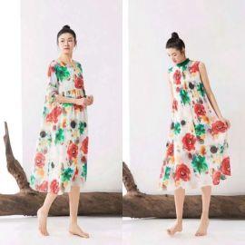 遇见天&瑞天品牌折扣女装连衣裙广州供应商尾货哪里好