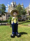 揚州情侶卡通人物小孩價格 鎮江園林雕塑擺件廠家