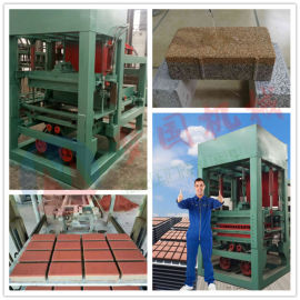 新型防渗透水面包砖机 免烧水泥空心砖机厂家