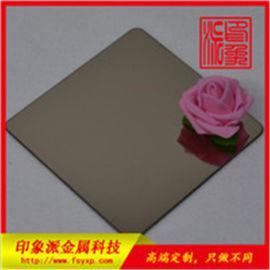 镜面茶色不锈钢板 印象派金属304不锈钢板材供应