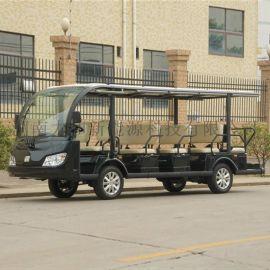 黑色14座电动观光车,旅游景区爬山车