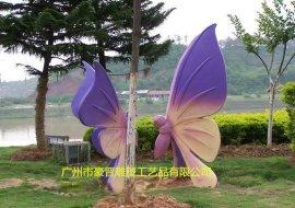 豪晋玻璃钢仿真蝴蝶雕塑工艺品