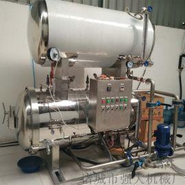 强大机械新品推荐肉制品专用热水喷淋式杀菌锅