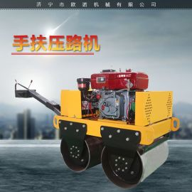 手扶单双轮小型压路机 1吨全液压振动压路机厂家
