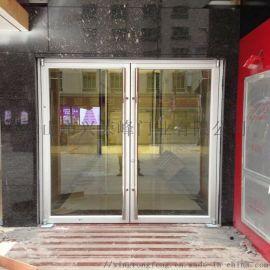 廣州黃埔區鋁型材肯德基門 長拉手對開肯德門