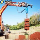 挖改鑽,挖機改鑽機一次成孔,挖機型號配螺旋鑽桿