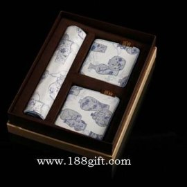 青花瓷真丝鼠标加鼠标垫办公礼品套装(YMS011)