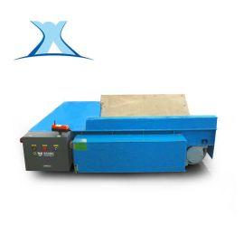 大噸位載重遙蓄電池轉彎電動平板車大型鋼板支架同步轉運軌道車