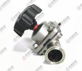 盖米隔膜阀不锈钢隔膜阀316L卫生级快装隔膜阀 快装隔膜阀 双膜