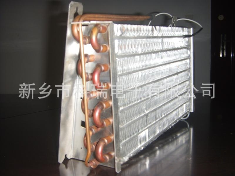 带加热管的铜管翅片式冷凝器蒸发器  15837354540