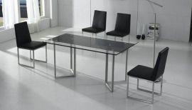 玻璃不锈钢餐桌(SX-A8104)