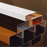 專業銷售50*100mm鋁方管轉印木紋鋁方通可定製