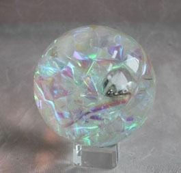 彩带水晶   力球