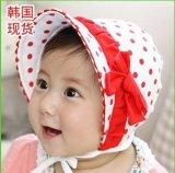 嬰兒繫帶帽