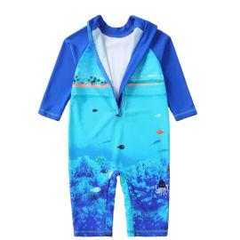 男童泳衣来料订制加工东莞制衣厂OEM生产订制服装