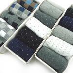 男士竹纤维中筒袜 休闲商务袜 5双精装礼盒袜 礼品袜 厂家直销