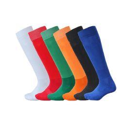 贴牌定做纯色专业毛巾底足球袜 长筒袜过膝 纯棉加厚成人男袜儿童