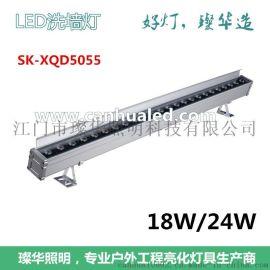 璨华照明LED洗墙灯,铝合金18W24W防水洗墙灯