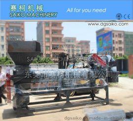 赛柯机械供应1000公斤废旧塑料瓶脱标机设备