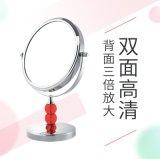 胜鸿高清台式化妆镜双面镜欧式镜三倍放大结婚公主镜双面梳妆镜