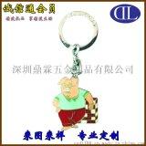 仿琺琅鑰匙扣專業定製 韓國時尚小豬形狀鑰匙扣製作促銷小禮品